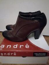 Boots richelieu ANDRE T.40 bordeaux et noires en cuir