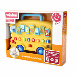 Animal Sounds Toy - Electronic Number Learning Bus with Noise and Music