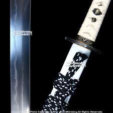 White Handmade Musashi Folded Katana Samurai Sword