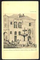 Carte Postale Gravure RARE 78 - Ancienne PRISON de MANTES la JOLIE sous HENRI IV