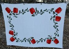 vtgs Cotton Apples Tablecloth 51x68""