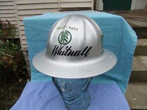 Vntg B.F. McDonald Co. Los Angeles  Aluminum Boise Cascade Hard Hat Size Small