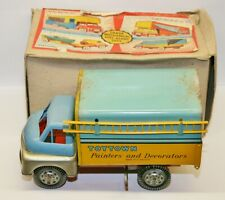 """Vintage Wells Brimtoy No.706 """"Toytown Painters and Decorators"""" Tinplate Lorry"""