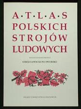BOOK ATLAS OF POLISH FOLK COSTUME Lowicz post-1953 ethnic embroidery wool POLAND