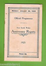 #D167.  1925  NSW ANNUAL   REGATTA PROGRAM