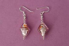 Beautiful Murano Glass Earrings 3.5 Cm. Long + Hooks In Display Gift Box