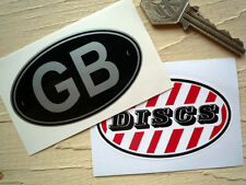 Scooter GB & Discs stickers suit Lambretta Vespa etc.