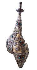 "TIBETAN CONCH 19"" OLD TIBETAN CONCH SHELL TRUMPET _USED DAMAGED DUNG-DKAR"