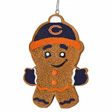 Chicago Bears Gingerbread Man Christmas Tree Ornament NEW - RGB13