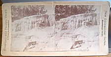 Yellowstone Park Stereoview MAMMOTH HOT SPRINGS SOUTH TERRACE New Edu Canvassers