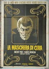 MANIFESTO, LA MASCHERA DI CERA, VINCENT PRICE, BRONSON, LOVEJOY, DE TOTH, HORROR