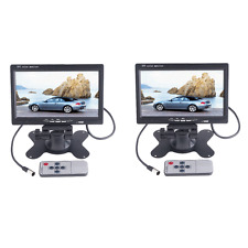 "2PCS 7"" TFT LCD Color Auto Car Rearview Headrest Monitor DVD Camera VCR Digital"