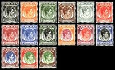 Singapore stamps -1948 King George VI 15v Mounted Mint complete set