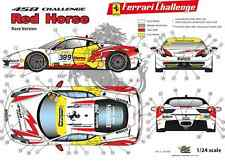 """[FFSMC Productions] Decals 1/24 Ferrari F-458 Challenge """"Red Horse"""" (for Races)"""