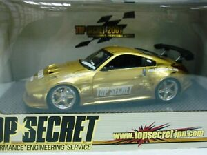 WOW EXTREMELY RARE Nissan 350Z Fairlady Z33 Gold Top Secret Camber 1:24 Hotworks