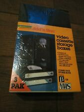 Add N Stac Video Cassette Storage Boxes Vintage New Old Stock