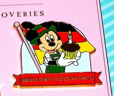 LE 500 Disney Pin✿Germany Mickey Mouse Cupcake Happy Anniversary Congratulations