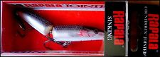 RARE RAPALA COUNTDOWN JOINTED CDJ 7 cm SSH (Pearl Black) color (white belly!)
