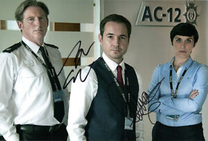 Martin Compston & Vicky McClure, Line of Duty, signed 12x8 inch photo. Proof.