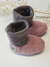 Babyschuhe Wollwalk/ Baby Stiefel/ Bio/ Altrosa/verschiedene Größen