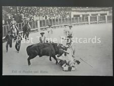 Old PC, BULL FIGHTER / PICADOR: Fall of Picador and Horse