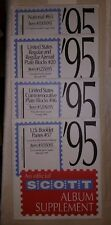 Philatelic Supplies Scott Album Supplement 1995 4diff Booklet panes plate block+