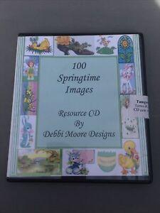 100 Springtime Images By Debbi Moore Designs CD paper craft card making easter