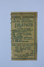 Used 1939 Indianapolis 500 / Indy 500 Race day general admission ticket stub