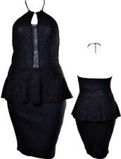 Nylon Formal Solid Plus Size Dresses for Women