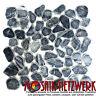 Mosaik Kiesel geschnitten grau schwarz bodenebene Duschtasse | 30-0302 |10Matten