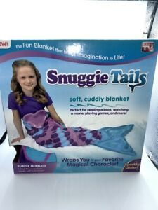 Snuggie Tails for Kids, Purple Mermaid wearable Blanket great for Christmas