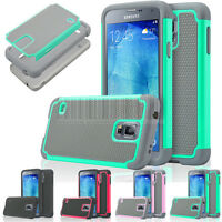 Hybrid Rugged Armor Hard Rubber Case Shockproof Cover For Samsung Galaxy S5 Neo