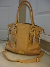 AMERICAN GLAMOUR GENUINE SOFT LEATHER BAG~ GOLD HARDWARES ~FABULOUS PEACH COLOR!
