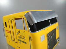 Aluminum Front Roof Sun Visor Plate Cover Tamiya RC 1/14 Globe Liner Semi Truck