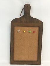 Wall mounted message push pinsthumb tacks ebay cork board sewing craft kitchen room wall decor wood frame for push pins gumiabroncs Image collections