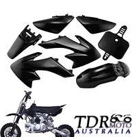 CRF50 BLACK PLASTICS for DIRT/PIT BIKE THUMPSTAR/ATOMIK/PITPRO 50/70/110/125CC