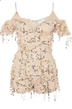 Rare Clothing Gold Sequin Playsuit BNWT SOLD OUT Topshop stock