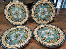 """4 William Sonoma La Med Melamine Dinner Plates Approximately 11"""""""