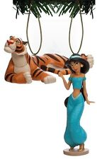 "Disney Aladdin ""Jasmine & Rajah"" 2 Pc. Pvc Holiday Christmas Tree Ornament Toy"