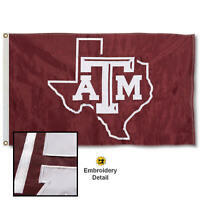 Texas A&M University Embroidered and Appliqued Nylon Flag