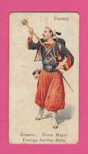 MILITARY - WILLS - RARE SOLDIERS OF THE WORLD - FRANCE  ZOUAVE  - 1895