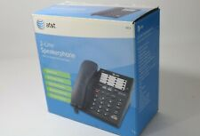New In Box AT&T 983 2-Line Corded Telephone Speakerphone no AC power needed