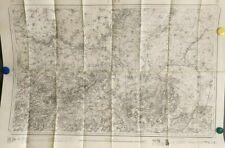 Carte d'état-major de la ville Laon (Cambrai) 1837 890 x 630 cm