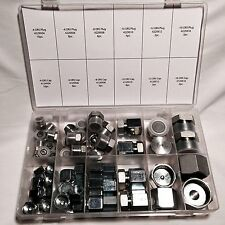 64 PC LOT ORFS O-RING  ORS PLUG AND CAP HYDRAULIC FITTING FLAT FACE SEAL KIT SET