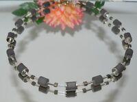 Halskette Kette Walzenkette Walzen grau dunkelgrau anthrazit Polaris  009f