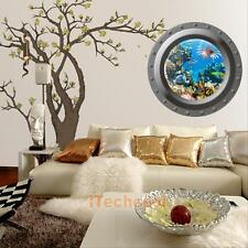 Ocean View Porthole Wall Decal Sea Cruise Wall Sticker Home Room Art Decor Mural
