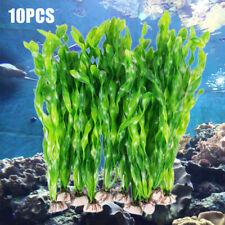 10Pcs Artificial Green Seaweed Water Plants Plastic Fish Tank Aquarium Decor !