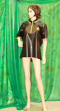 a Invincible maker heavy latex rubber short sleve shirt top  lady T/V party wear