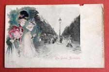 CPA. JACK ABEILLÉ. Paris. Les Grands Boulevards. Carte abîmée. Années 1900.
