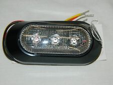 Maxxima M20383RCL Red 3 LED Clear Lens Directional Strobe Light Surface Mount